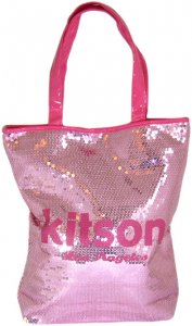 KITSON(キットソン)スパンコールトートバッグ(ピンク×ピンク)<img class='new_mark_img2' src='https://img.shop-pro.jp/img/new/icons16.gif' style='border:none;display:inline;margin:0px;padding:0px;width:auto;' />
