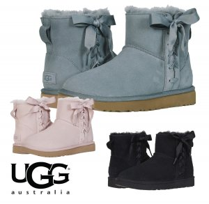 UGG(アグ)クラシック レース ミニ CLASSIC LACE MINI ムートンブーツ/リボン付きシープスキンブーツ/1103756<img class='new_mark_img2' src='https://img.shop-pro.jp/img/new/icons16.gif' style='border:none;display:inline;margin:0px;padding:0px;width:auto;' />