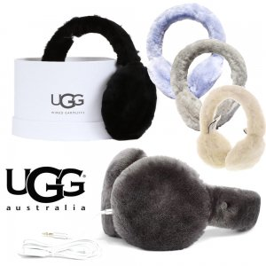 UGG(アグ)ムートンヘッドフォン耳あて/エクスポーズ シープスキン イヤーマフ/BOX付き/EXPOSED SHEEPSKIN TECH EARMUFF<img class='new_mark_img2' src='https://img.shop-pro.jp/img/new/icons16.gif' style='border:none;display:inline;margin:0px;padding:0px;width:auto;' />