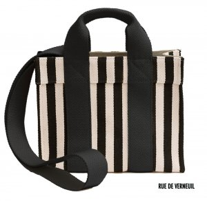 Rue De Verneuil(リュ ドゥ ヴェルヌイユ)2Wayミニトートバッグ/BabyTote/PALAIS ROYAL/STRIPES BLACK/ブラックストライプ<img class='new_mark_img2' src='https://img.shop-pro.jp/img/new/icons16.gif' style='border:none;display:inline;margin:0px;padding:0px;width:auto;' />