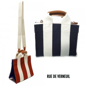 Rue De Verneuil(リュ ドゥ ヴェルヌイユ)2Wayミニトートバッグ/BabyTote/COLOR BLOCK/NAVY BRICK /ネイビー、ブリック<img class='new_mark_img2' src='https://img.shop-pro.jp/img/new/icons16.gif' style='border:none;display:inline;margin:0px;padding:0px;width:auto;' />