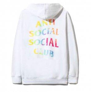 アンチソーシャルソーシャルクラブ(ANTI SOCIAL SOCIAL CLUB)スウェットパーカー/フーディー/タイダイホワイト ASSC Thai Dye White Hoodie