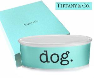 TIFFANY & CO(ティファニー)ドッグボウル/犬の食器 皿/紙袋付き