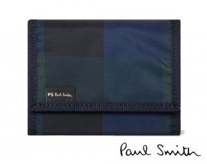 クリアランス/ポールスミス(PAUL SMITH)チェックナイロン 三つ折り財布/コンパクト財布/PS by Paul Smith<img class='new_mark_img2' src='https://img.shop-pro.jp/img/new/icons16.gif' style='border:none;display:inline;margin:0px;padding:0px;width:auto;' />
