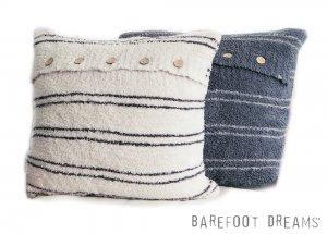 ベアフットドリームス(Barefoot Dreams)Cozychicビッグクッション/カバー&クッション付き ボーダー柄 CozyChic Striped Pillow<img class='new_mark_img2' src='https://img.shop-pro.jp/img/new/icons16.gif' style='border:none;display:inline;margin:0px;padding:0px;width:auto;' />
