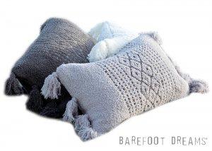 ベアフットドリームス(Barefoot Dreams)フリンジ付きピロークッション/枕/カバー&クッション付き CozyChic Luxe Casa Pillow<img class='new_mark_img2' src='https://img.shop-pro.jp/img/new/icons16.gif' style='border:none;display:inline;margin:0px;padding:0px;width:auto;' />