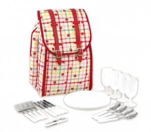キャスキッドソン(Cath Kidston)ピクニックバックパック ピクニックセット リュック おうちキャンプ ストロベリーギンガム Picnic Backpack