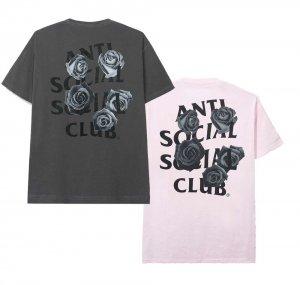 アンチソーシャルソーシャルクラブ(ANTI SOCIAL SOCIAL CLUB)Tシャツ ローズ 薔薇 グレー ピンク ASSC