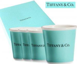 TIFFANY & CO(ティファニー)エスプレッソカップ4点セット/食器/マグカップ/紙袋付き/106ml