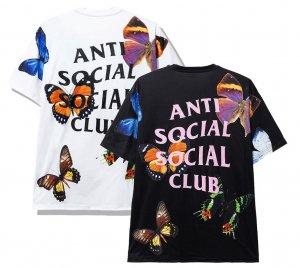 アンチソーシャルソーシャルクラブ(ANTI SOCIAL SOCIAL CLUB)Tシャツ バタフライ 蝶 ブラック ホワイト ASSC