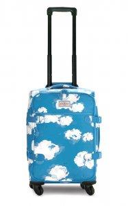 クリアランス/キャスキッドソン(Cath Kidston)キャリーカート トラベルキャリーバッグ キャスター付き旅行バッグ 青空柄