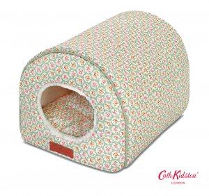 キャスキッドソン(Cath Kidston)ドッグベッド ペット用ベッド 犬猫用ドーム型ハウス プロバンスローズ柄 Igloo Pet Bed