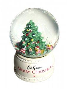 【2020年クリスマス限定】キャスキッドソン(Cath Kidston)オルゴール スノードーム クリスマスツリー Festive Party Animals Snowglobe