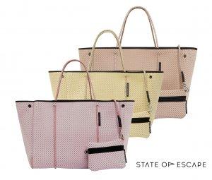 【2021年春夏モデル】State of Escape(ステイトオブエスケープ)ESCAPE BAG/エコバッグ/トートバッグ ポーチ付き/ネオプレンバッグ/マザーズバッグ