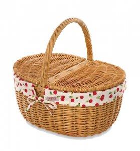 クリアランス/キャスキッドソン(Cath Kidston)ドロシーバスケット かご おうちキャンプ ピクニック チェリー さくらんぼ Cherries Dorothy Basket