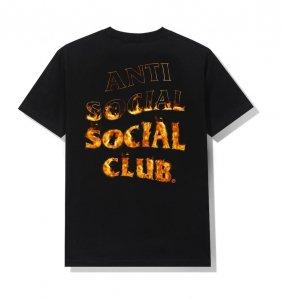 アンチソーシャルソーシャルクラブ(ANTI SOCIAL SOCIAL CLUB)Tシャツ 炎 フレイム A Fire Inside Black Tee ブラック ASSC