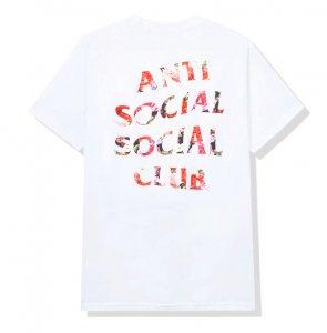 アンチソーシャルソーシャルクラブ(ANTI SOCIAL SOCIAL CLUB)Tシャツ 薔薇 ローズ Bed White Tee ホワイト ASSC