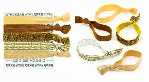 Kitsch(キッチュ)Golden goddess ヘアアクセサリー5本セット/ヘアゴム/ブレスレット/Hair Ties<img class='new_mark_img2' src='https://img.shop-pro.jp/img/new/icons16.gif' style='border:none;display:inline;margin:0px;padding:0px;width:auto;' />