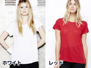 LnA(エルエヌエー)ヴィンテージTシャツ/半袖トップス/Vintage Tee(レッド&ホワイト)<img class='new_mark_img2' src='https://img.shop-pro.jp/img/new/icons16.gif' style='border:none;display:inline;margin:0px;padding:0px;width:auto;' />
