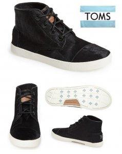 トムズ(Toms)ハラコスウェードスニーカー/ハイカット/PASEOS HIGH Black Pony Hair/ブラックポニーヘア