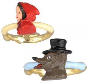 Les Nereides N2(レネレイド エヌドゥ)赤ずきんちゃん&オオカミリング/指輪2本セット