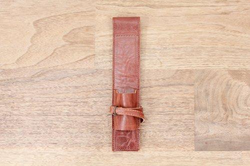 オリジナルブラシケースプレミアムアンティークキャメル革