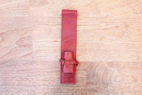 オリジナルブラシケースプレミアムアンティークレッド革