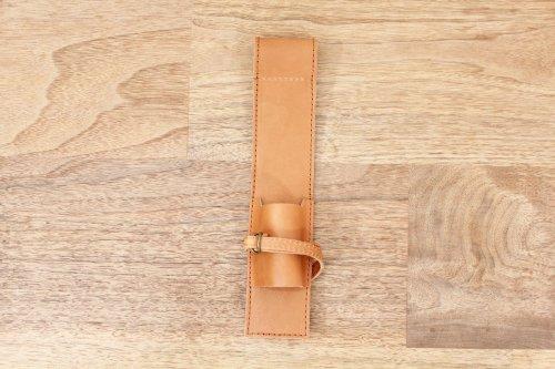 オリジナルブラシケースキャメル革