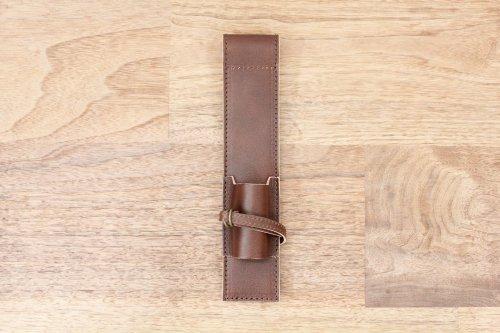 オリジナルブラシケースチョコ革
