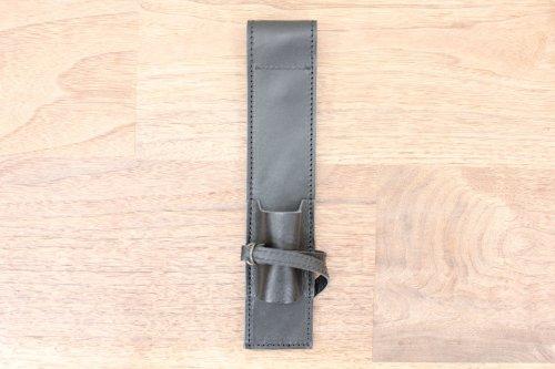 オリジナルブラシケース黒革