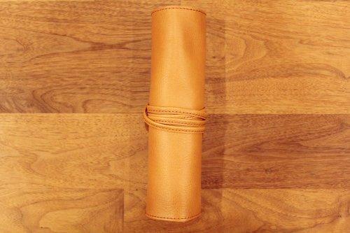 シザーケースRollキャメル革