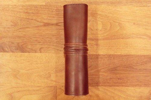 シザーケースRollチョコ革