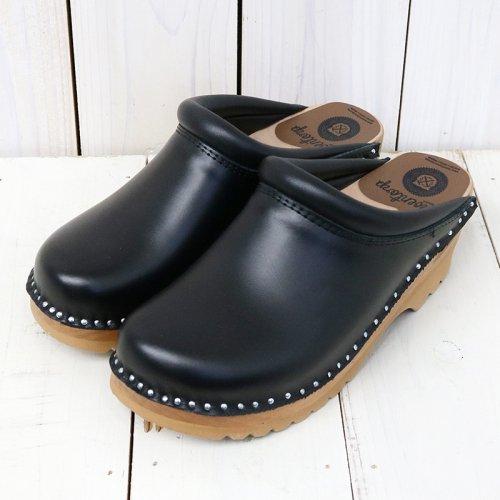 Troentorp『Swedish Clog-Plain Toe/Smooth』(Black/Natural)