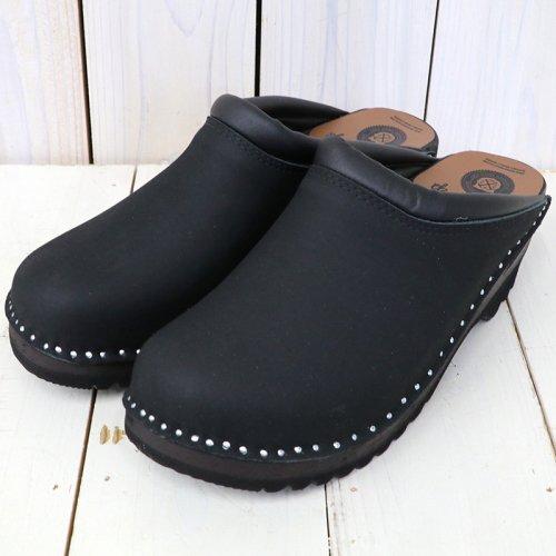 Troentorp『Swedish Clog-Plain Toe/Nubuck』(Black/Black)