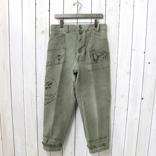SHANANA MIL『GYPSY HAND STENCIL USN DECK PANTS』(M/32inc)