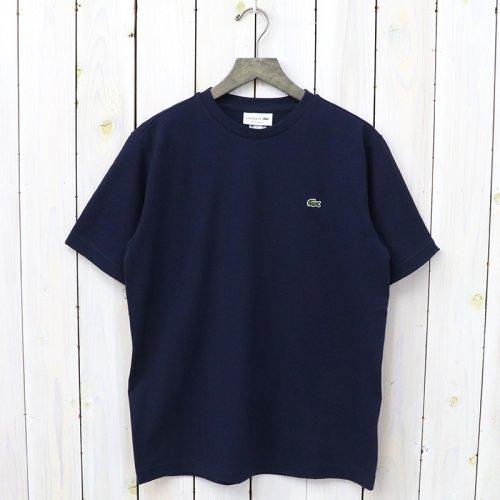LACOSTE『鹿の子クルーネックTシャツ(半袖)』(ネイビー)
