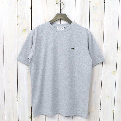 LACOSTE『鹿の子クルーネックTシャツ(半袖)』(グレー)