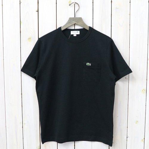 LACOSTE『ベーシッククルーネックポケットTシャツ』(ブラック)