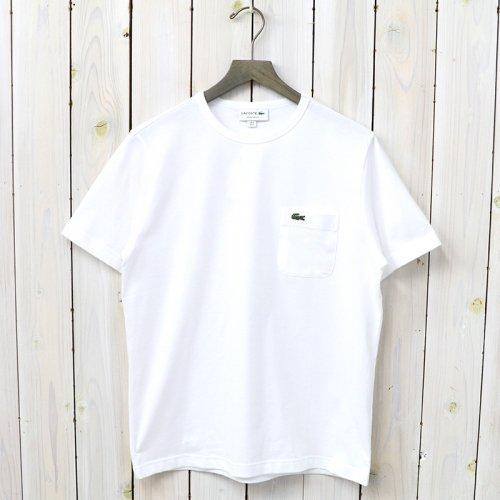 LACOSTE『ベーシッククルーネックポケットTシャツ(半袖)』(ホワイト)