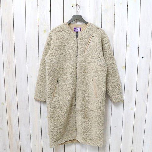 THE NORTH FACE PURPLE LABEL『Wool Boa Fleece Field Long Coat』(Ecru)