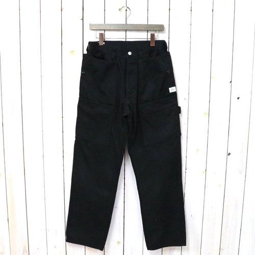 SASSAFRAS『FALL LEAF TOUGH PANTS(WORK SATIN)』(BLACK)