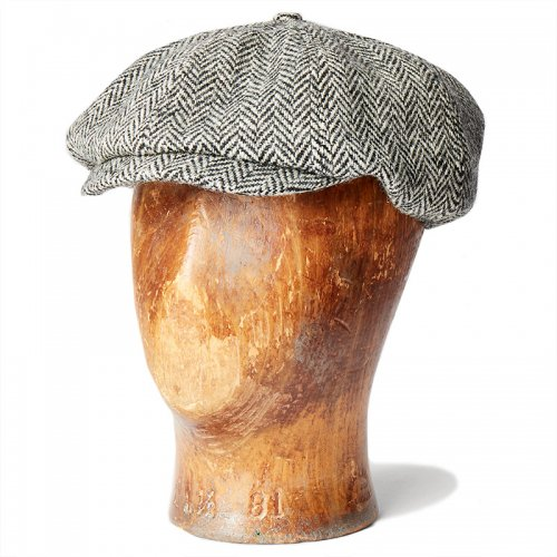 Double RL『HARRIS TWEED NEWSBOY HAT』(BROWN)