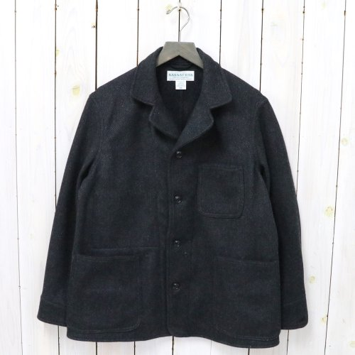 SASSAFRAS『SPRAYER JACKET(HERRINGBONE BLANKET)』(CHARCOAL)