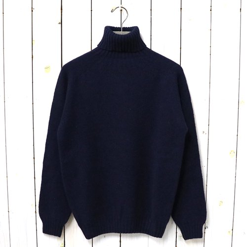 INVERALLAN『Turtle Neck Sweater-Saddle』(New Navy)