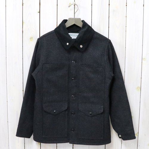 SASSAFRAS『LEAF PRUNER TUBE JACKET(HERRINGBONE BLANKET)』(CHARCOAL)