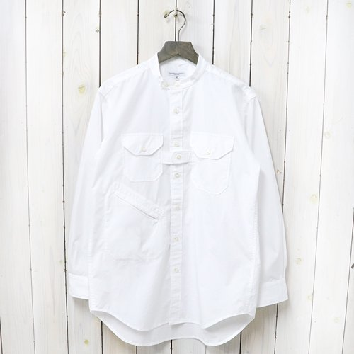 ENGINEERED GARMENTS『Banded Collar Shirt-100's 2Ply Broadcloth』(White)