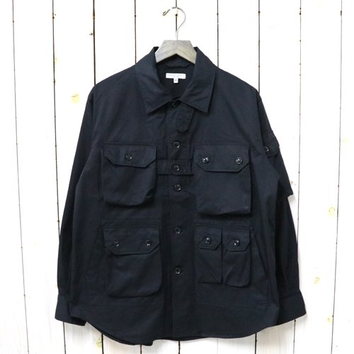 ENGINEERED GARMENTS『Explorer Shirt Jacket-High Count Twill』(Black)