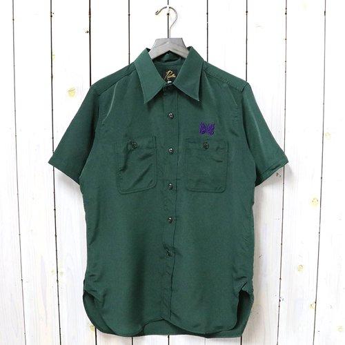 Needles『S/S Work Shirt-Poly Cloth』(Green)