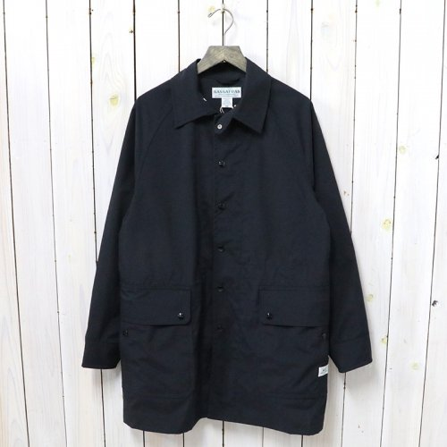 SASSAFRAS『FALL LEAF COAT(NYLON OXFORD)』(BLACK)