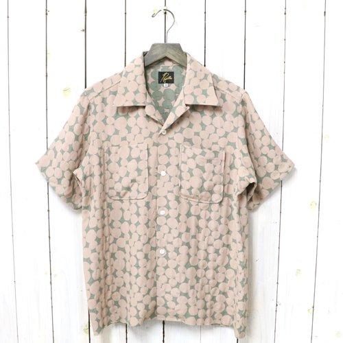 Needles『C.O.B. S/S One-Up Shirt-Bubble Jq.』(Grey/Pink)
